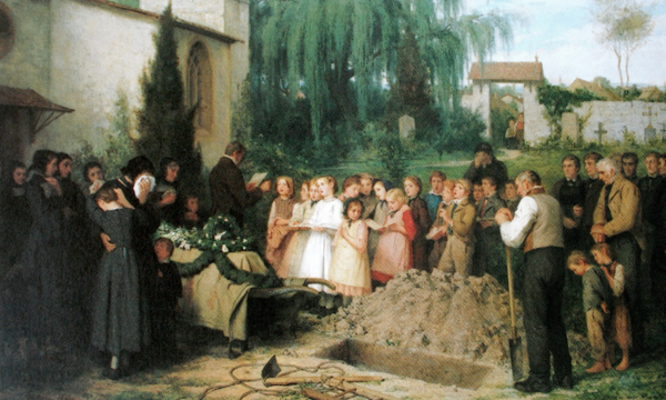 Albert Anker - A child's funeral (Quelle: Wikimedia Commons)