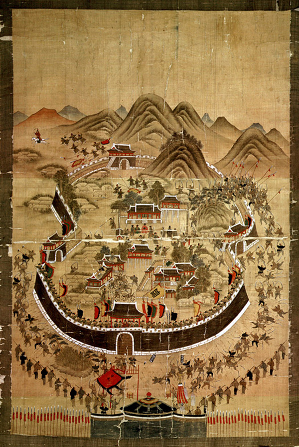 Byeon Bak - Dongnaebu painting of defense of Dongnae Fortress (Quelle: Wikimedia Commons)